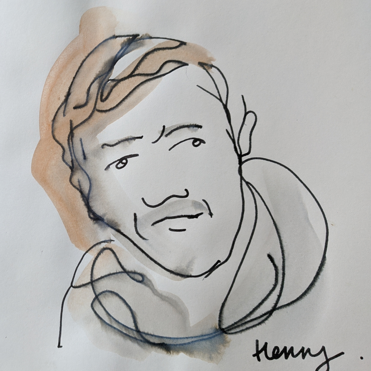 Live Drawing of Henry Johnstone by Lisa Gornick